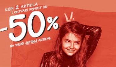 | AKCIJA -50% na drugi |
