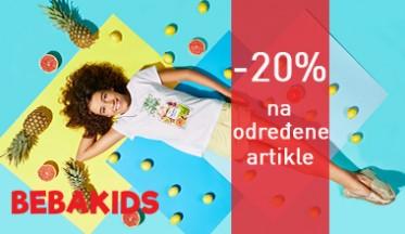- 20% na određene artikle