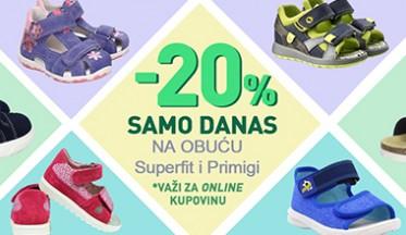Samo danas ONLINE POPUST -20% na obuću