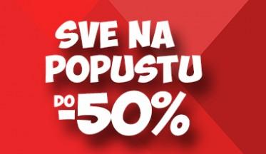 | SNIŽENJE DO - 50% |
