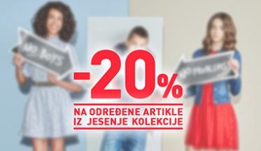 | SNIŽENJE - 20% |