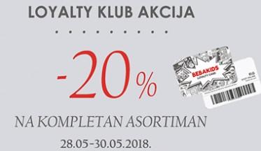 I  LOYALTY KLUB AKCIJA  -20%  I
