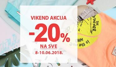 I  VIKEND AKCIJA  -20%  I