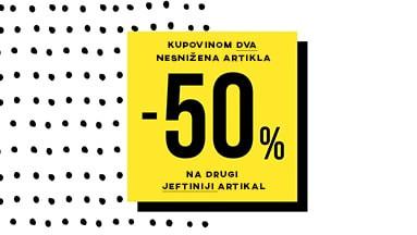 >>Akcija -50% na drugi jeftiniji artikal<<